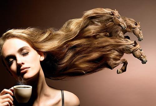 Son enmarañados los cabellos que curar