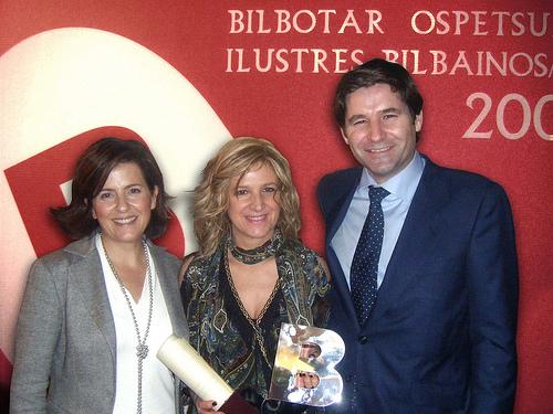 Yolanda con Rosa y Antonio