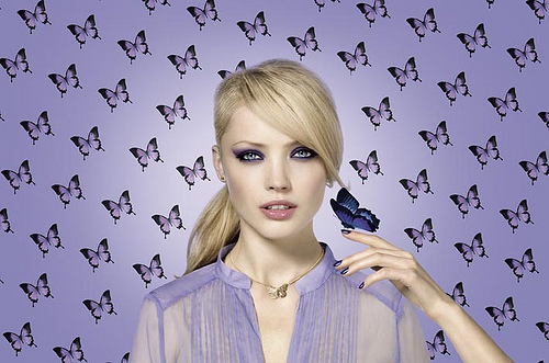 look effet papillon visu mannequin