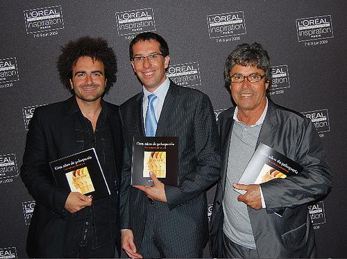 RP3 Raffel Pages junto a Nicolas Hieronimus, Presidente Mundial de L'Oréal Professionnelle y Serg