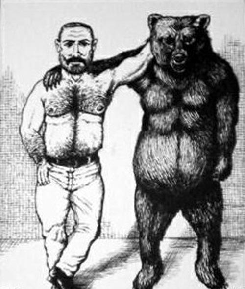 el hombre y el oso