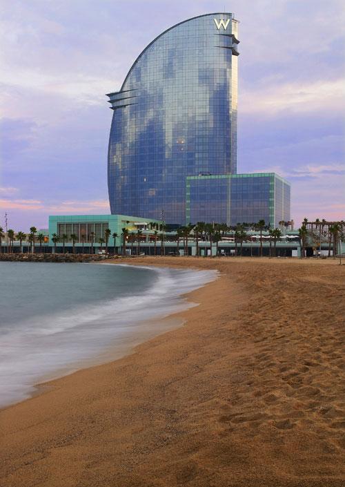W-Barcelona---View-from-St.-Sebastia-Beach
