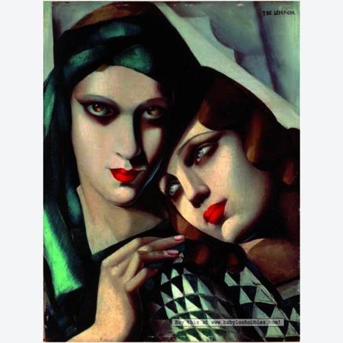 La sensualidad de unos labios pintados es incontestable. Pintura de Tamara de Lempicka