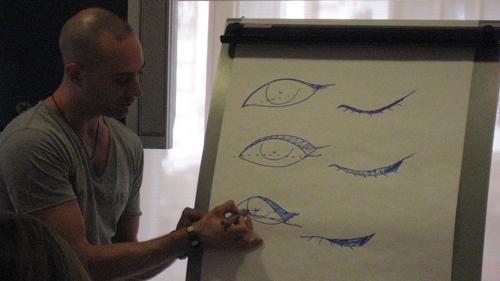 Gato dibuja los tipos de ojos y como aplicar eyeliner en cada caso