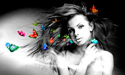 Mariposas-pelo