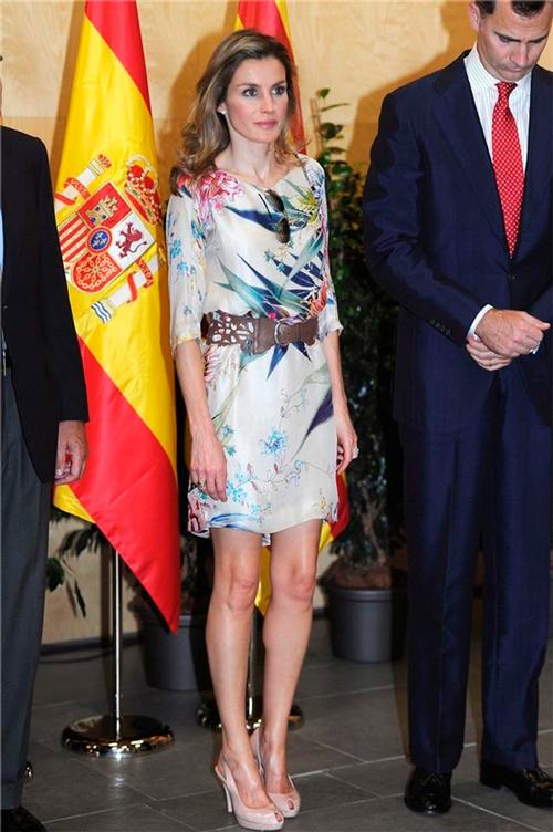 La princesa Letizia con túnica de Zara