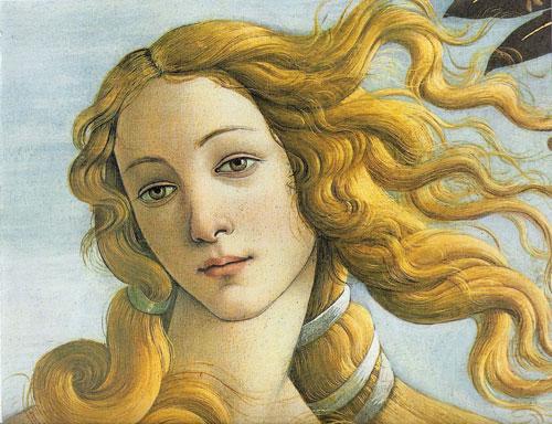 Detalle del Nacimiento de Venus de Botticelli