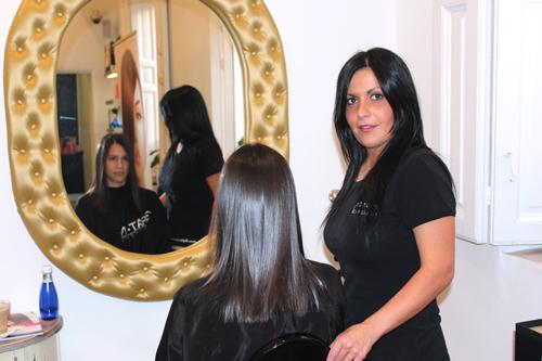 Foto del cabello después del tratamiento con queratina