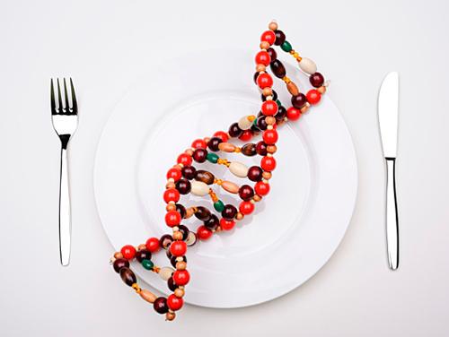 Imagen que simula la secuencia de un genoma en un plato