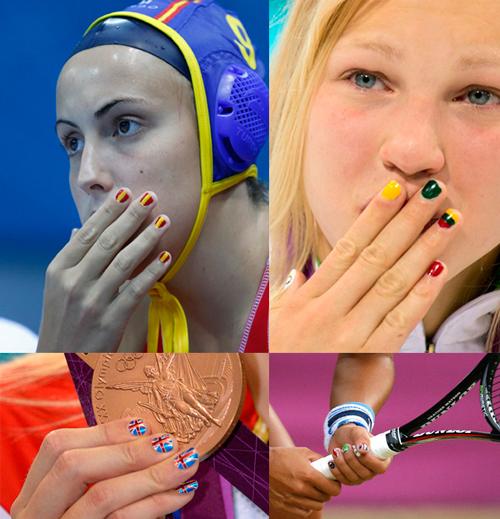 Imagen de las manicuras de las deportistas olímpicas