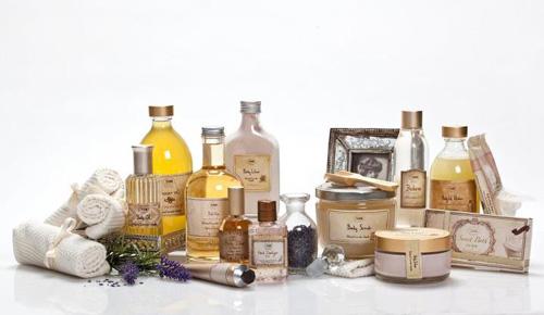 Imagen de algunos de los productos de Sabon