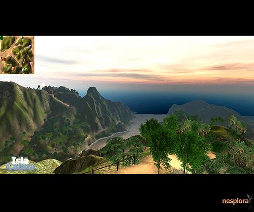 Imagen del programa de realidad virtual Isla Calma