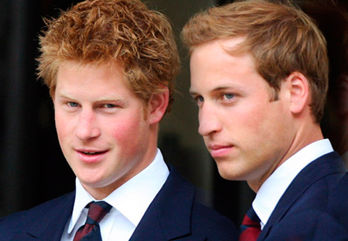 Príncipes Harry y William que padecen rosácea