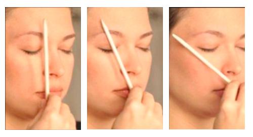 Cómo medir los tres puntos de las cejas