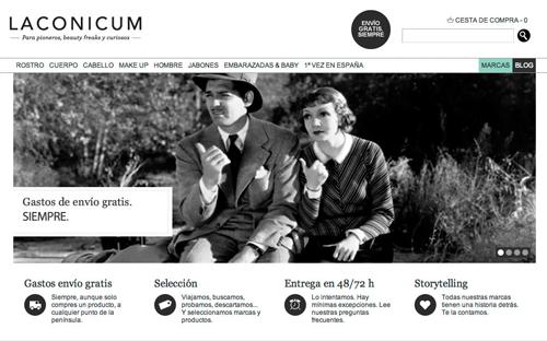 Imagen de la web Laconicum.com