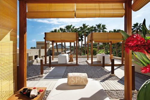 Imagen de las cabañas para tratamientos al aire libre