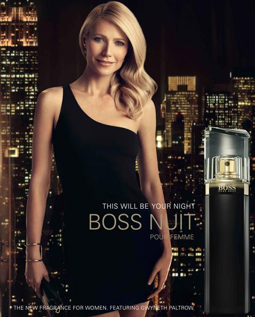Imagen de la campaña publicitaria de Boss Nuit con Gwyneth Paltrow