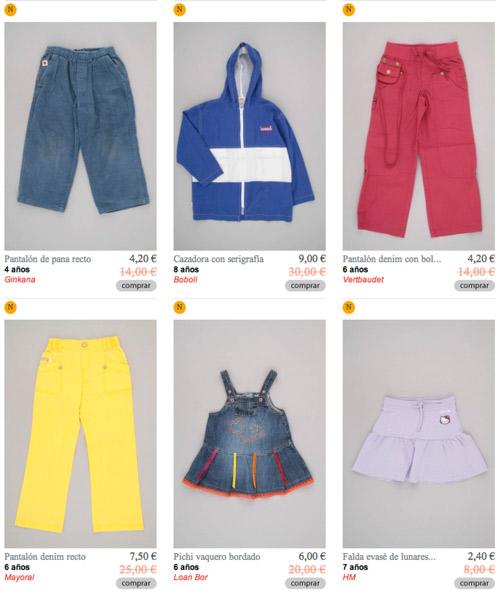 percentil-ropa-infantil-segunda-mano