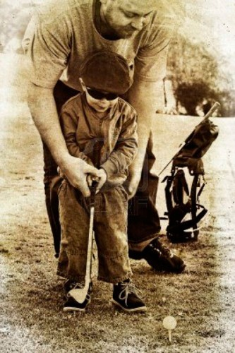 padre hijo golf