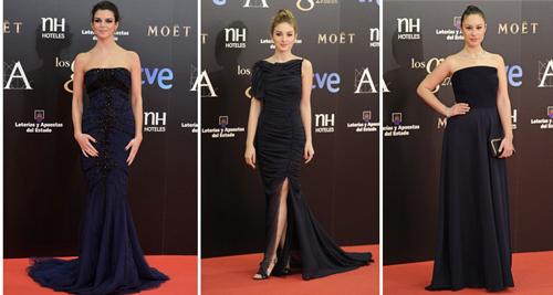 goya-2013-alfombra-roja-vestidos-azules-clara-lago-maria-valvarde-aida-folch