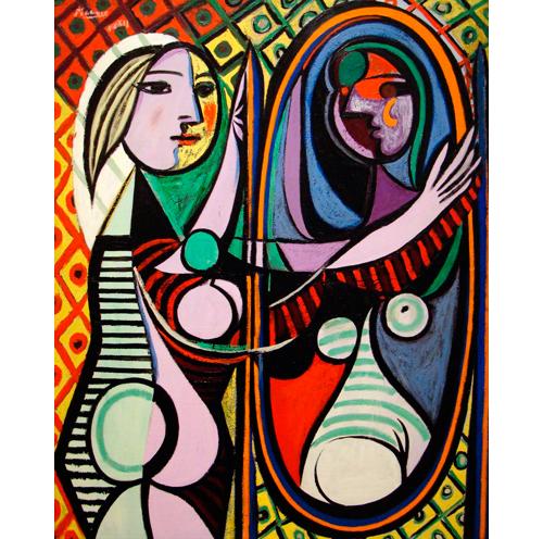 """""""Mujer ante el espejo"""", Pablo Picasso"""