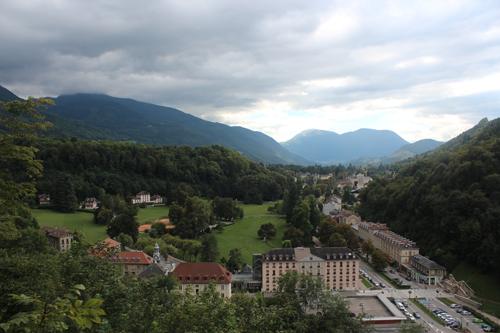 Vistas de Uriage desde el castillo