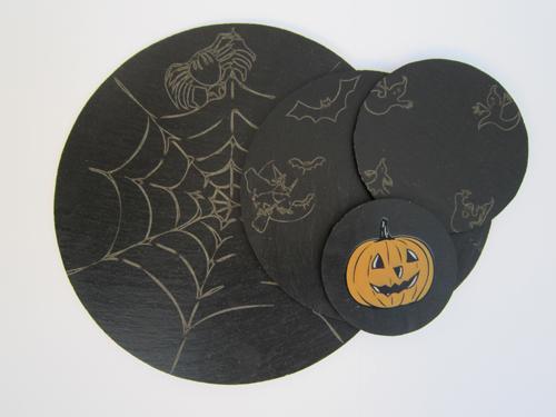 Platos y Pizarras Halloween 4 MODELOS