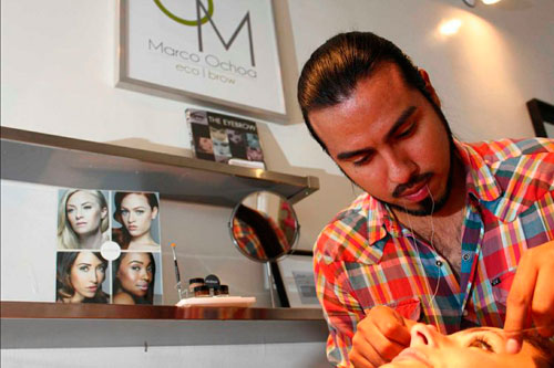 Marco Ochoa en acción