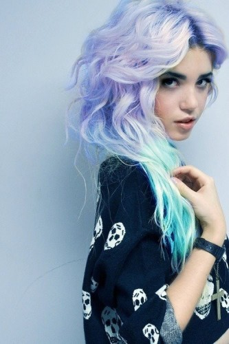 mechas-azules-hair-chalk