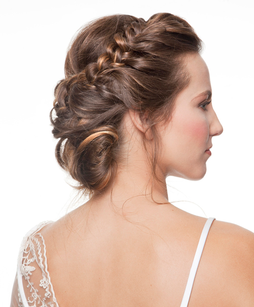 peinado maquillaje novia romantica
