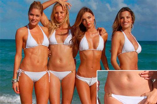 El ombligo de la supermodelo Karolina Kurkova siempre ha sido muy comentado, pero se ve que no ha sido obstáculo