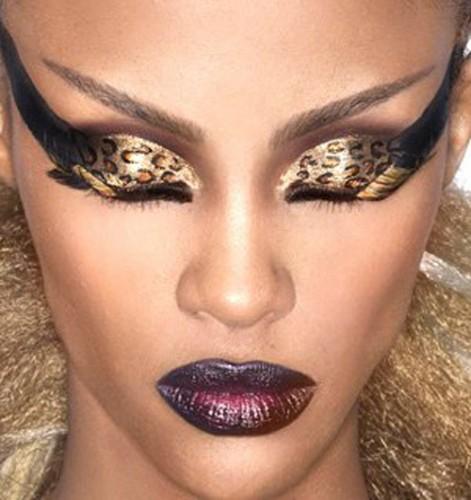 Как сделать леопардовый макияж фото