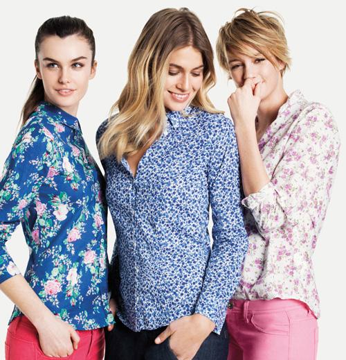 benetton-coleccion-mujer-primavera-verano-2014-camisas-flores
