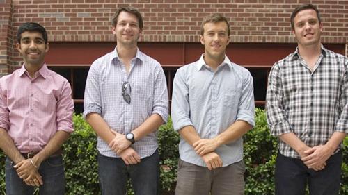 Los inventores Ankesh Madan, Stephan Gray, Tasso Von Windheim y Tyler Confrey-Maloney