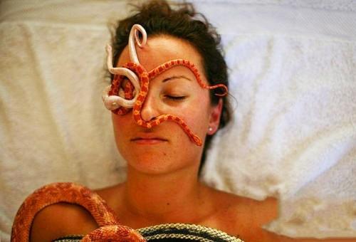 Talma Elazar masajes con serpientes 1