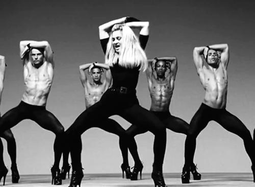 Madonna bailando a golpe de leggings