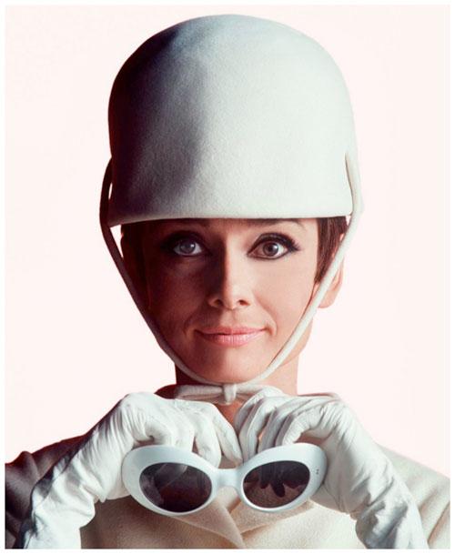 Audrey vestida por Courrèges, 1965