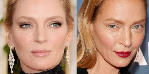 uma thurman new face