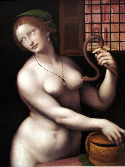 La Muerte de Cleopatra (1525) . Giovanni Ricci (Giampietrino)