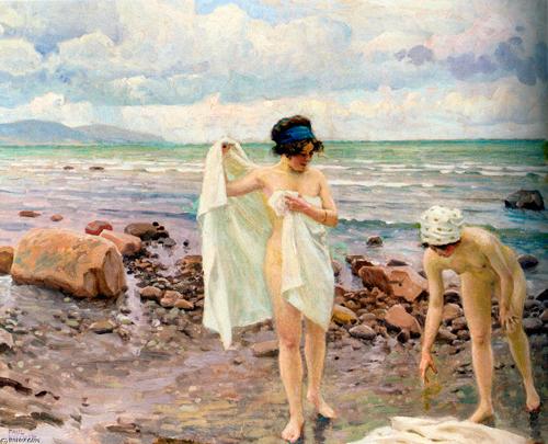 """Las bañistas"", Paul Gustave Fischer"