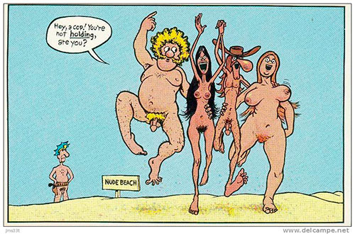 Dos de los Freak Brothers disfrutando de sus cuerpos (falta Phineas)