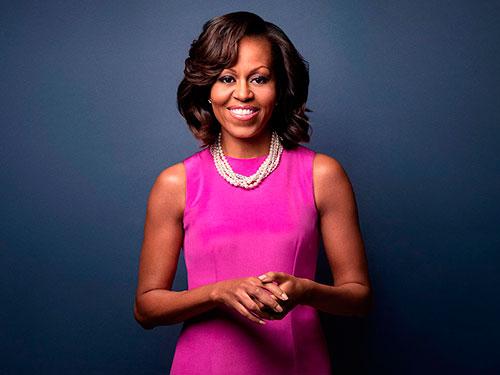 Michelle Obama. Toda ella daría para un tema sobre consortes, triste espejo femenino