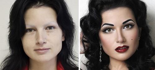 antes y después maquillaje cara