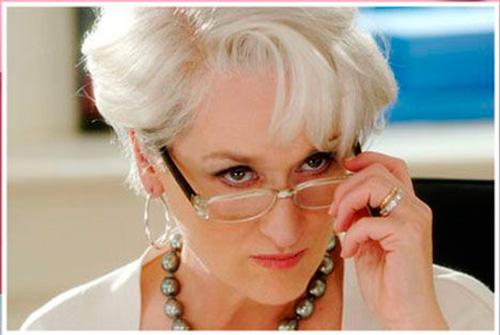 """Imponente Meryl streep en """"El diablo viste de Prada"""""""