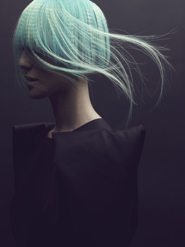 turquesa cabello