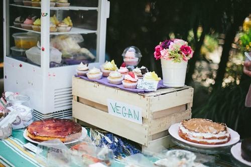 Pasteles Veganos en el mercado de Palo Alto