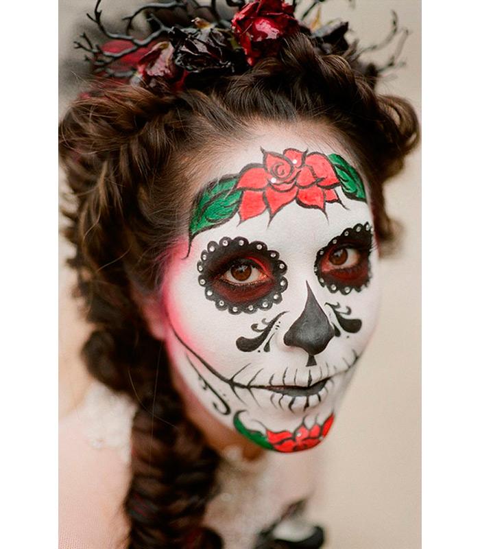 trenzas-peinados-halloween-calavera-mexicana
