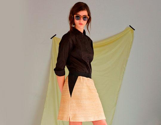 Camisa de algodón orgánico y falda de cáñamo