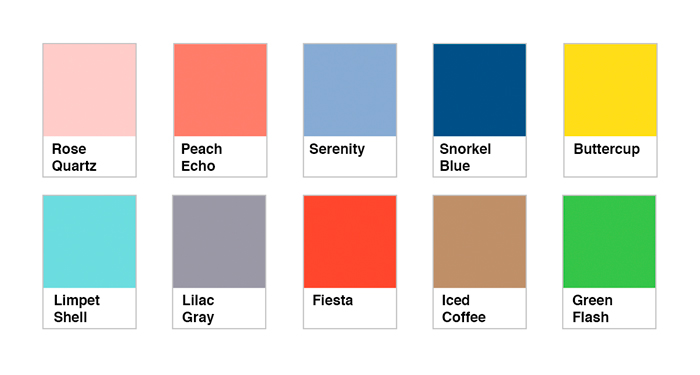 Pantone 10 colores para el a o 2016 bellezapura for Colores en paredes 2016