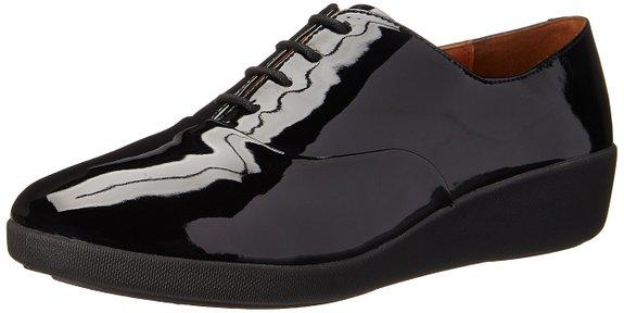 zapatos negros de cordones de Fitflop